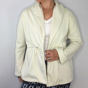 Fabletics Sage fleece shawl jacket in oatmeal
